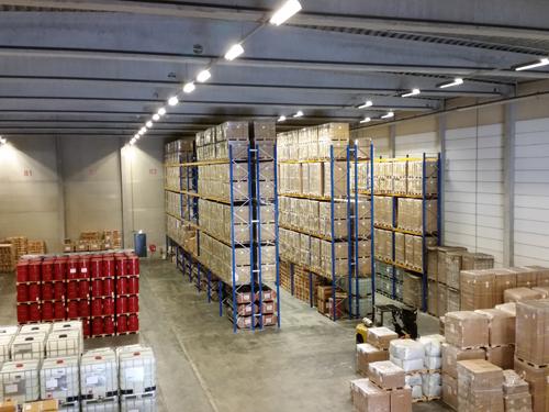 Opslag en overslag cargoterminalgadering